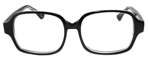 Frontbild på Fönster of Sweden 2321 stora Svarta retro glasögon