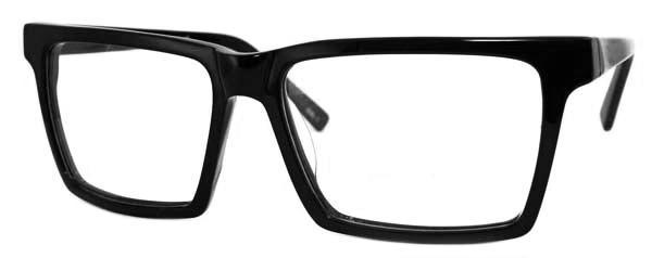 Sidobild på Fönster of Sweden 2314 stora Svarta retro glasögon