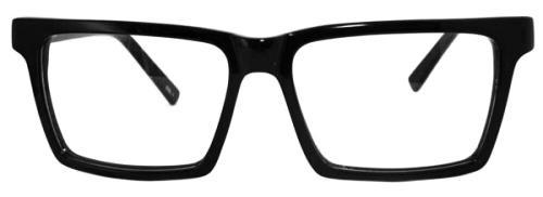 Frontbild på Fönster of Sweden 2314 stora Svarta retro glasögon
